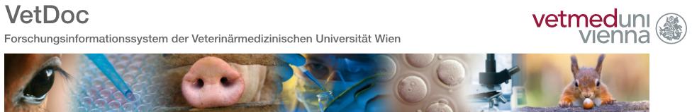 Logo Vetmeduni Vienna Forschungsinformationssystem